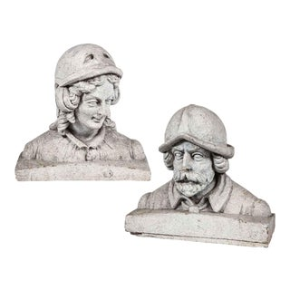 Terra Cotta Figural Busts - A Pair For Sale