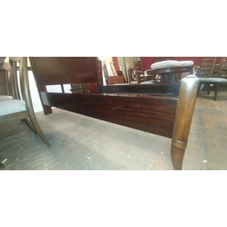 Mid-Century Modern Thomasville Furniture Spellbound Panel Head Board Mahogany Queen Bedframe Preview