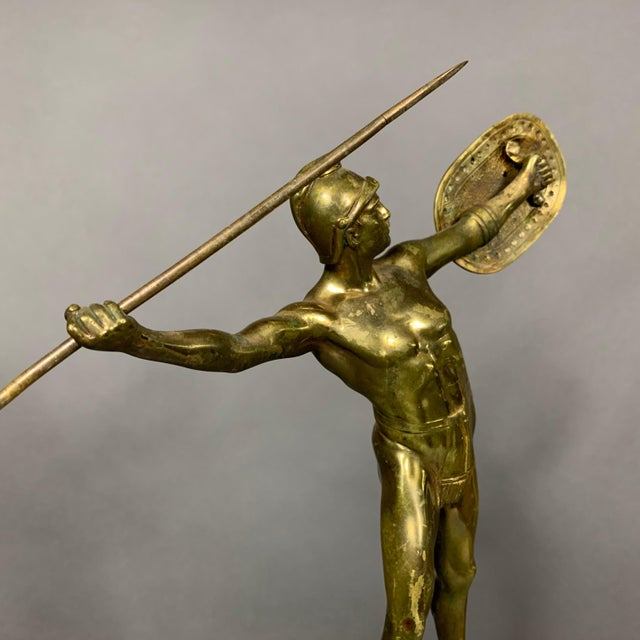 1900 - 1909 F. Thierman Bronze Gladiator Sculpture C.1900, Germany For Sale - Image 5 of 10