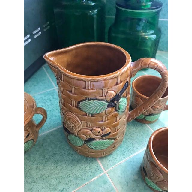 Ceramic Vintage Squirrel Tea Set Japanese Pottery For Sale - Image 7 of 13