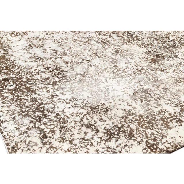 """Textile Vintage Overdyed Rug, 8'0"""" X 11'1"""" For Sale - Image 7 of 9"""