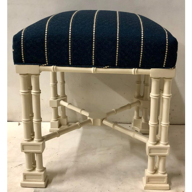 Chippendale Pair Erwin Lambeth Chippendale Style Ottomans For Sale - Image 3 of 9