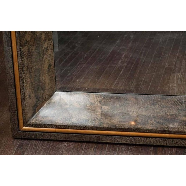 Traditional Coco Shell and Parchment Mirror For Sale - Image 3 of 10