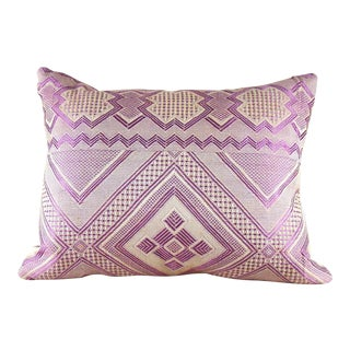 Geometric Orchid & Ivory Hand Woven Pillow Cover