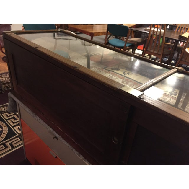 Antique Mercantile Curved Glass Display Case For Sale - Image 5 of 7