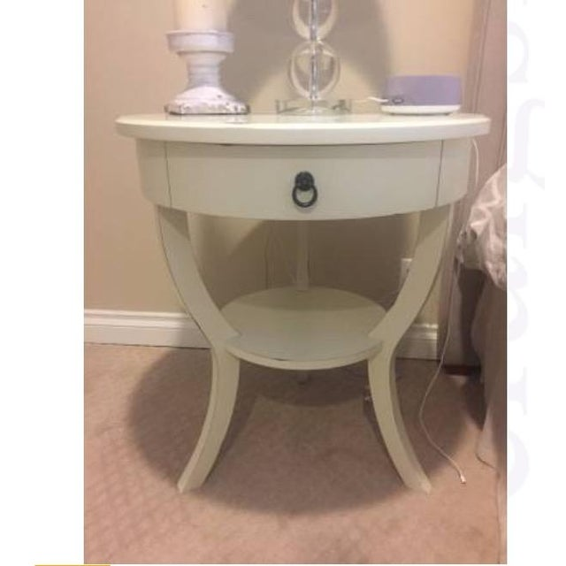 Pottery Barn White Nightstands - A Pair - Image 4 of 5