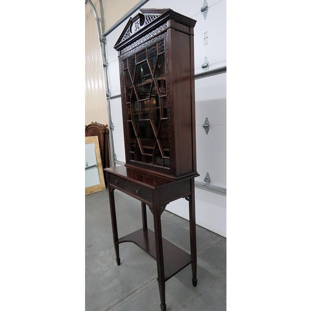Wood 19thC Georgian Collectors Cabinet For Sale - Image 7 of 12