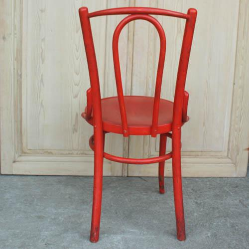 Red French Bentwood Dining Chair - Image 4 of 7