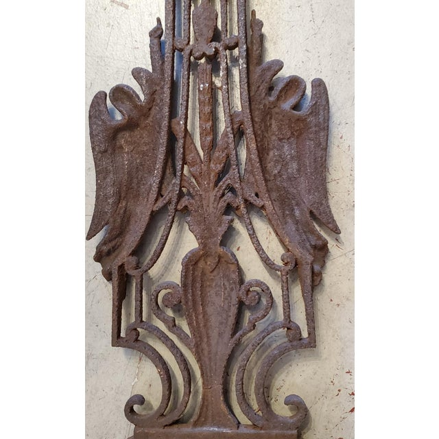 Early 19th Century French Vineyard Hand Wrought Cross With Angels For Sale - Image 5 of 6