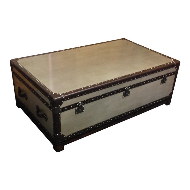 Silver Leaf Hardwood Trunk Style Table - Image 1 of 5