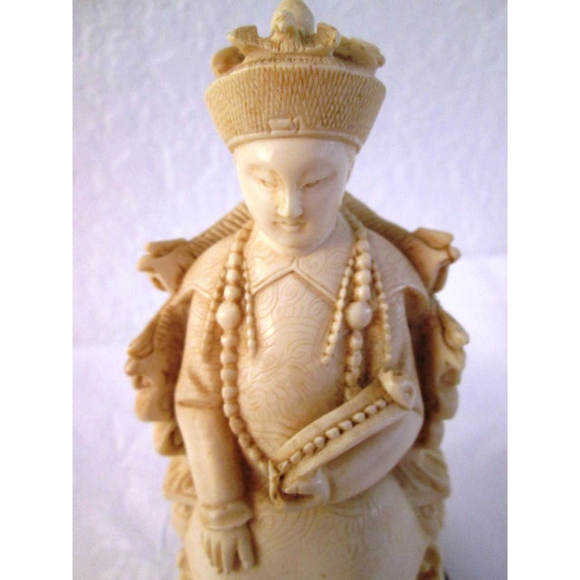 Chinese Mid Century Seated Empress Sculpture - Image 7 of 8