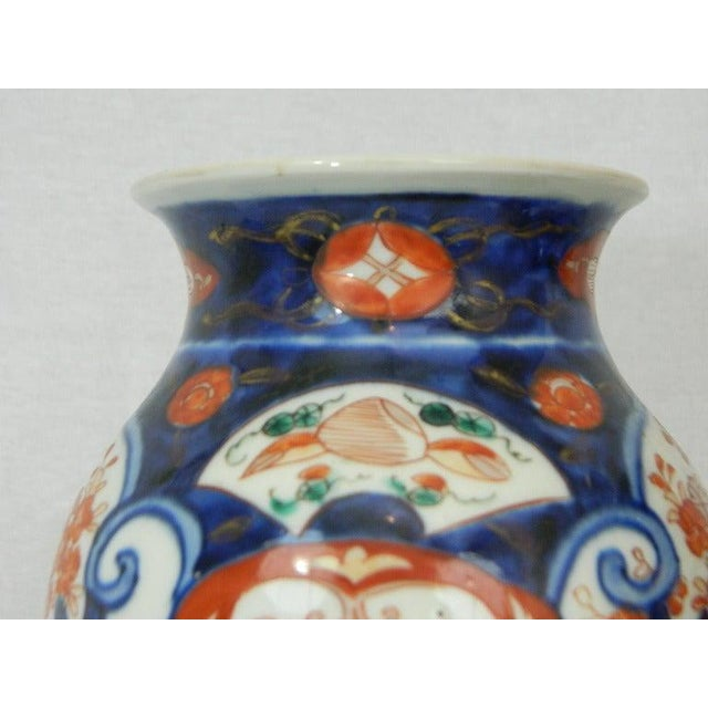 Mid 19th Century Pair of Imari Vases Depicting Floral Decorations on Stands, 19th Century For Sale - Image 5 of 8