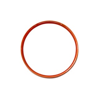 Round Orange Italian Mirror by Salc