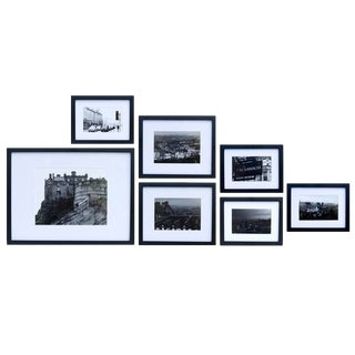 Edinburgh Black & White Framed Photography Prints, Set of 7 For Sale