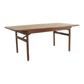 Danish Post-War Design Teak Dining Table For Sale