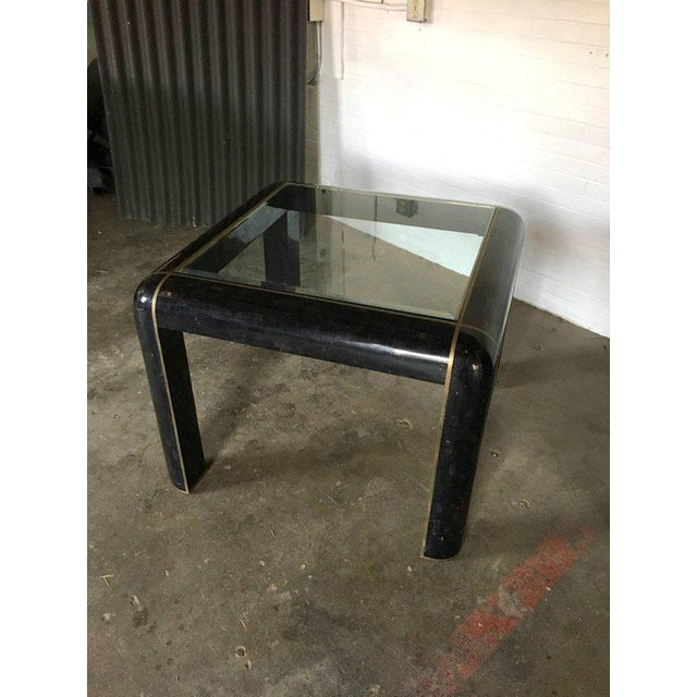Metal Tesselated Horn Small Dining Table by Maitland Smith For Sale - Image 7 of 10