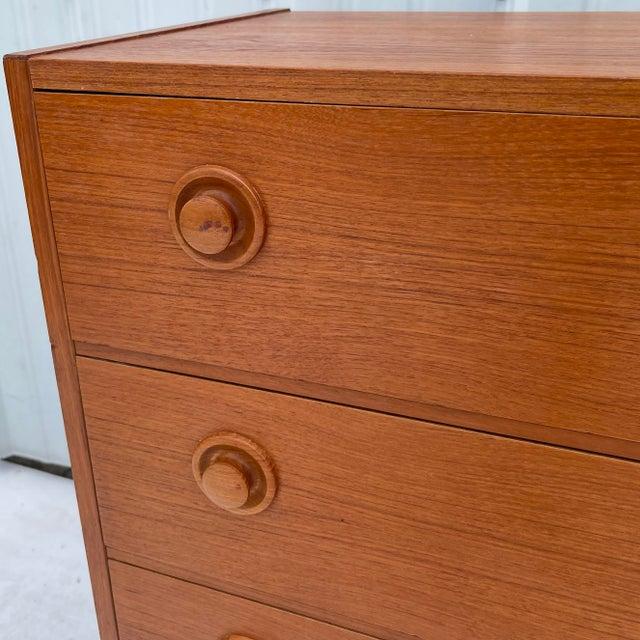 Vintage Modern Teak Commode or Dresser For Sale - Image 10 of 13