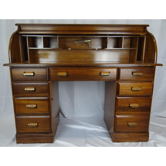 Mid-Century Wooden Desk For Sale - Image 9 of 9
