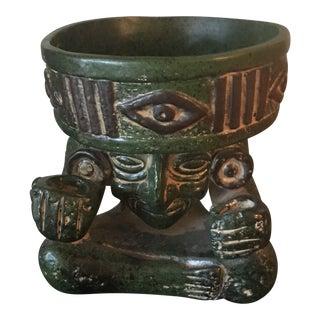 1930s Vintage Aztec Planter Bowl For Sale