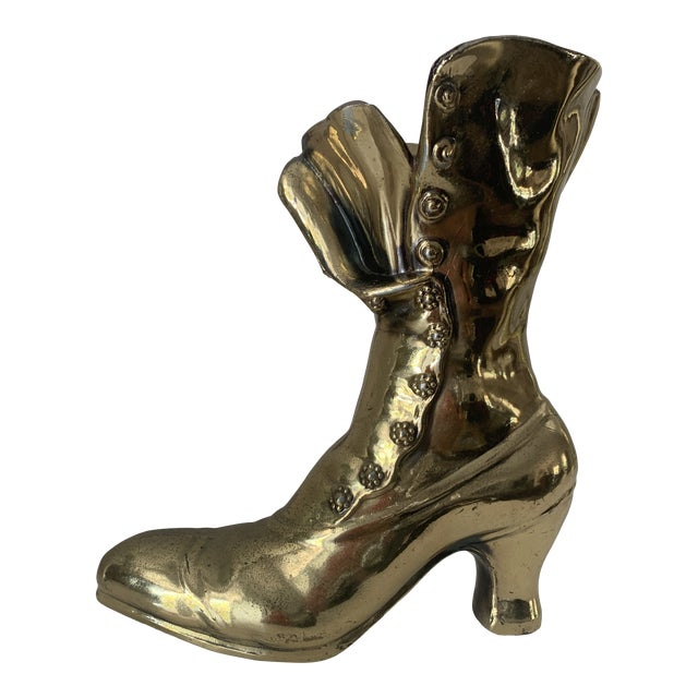Victorian Steampunk Boot Vase For Sale