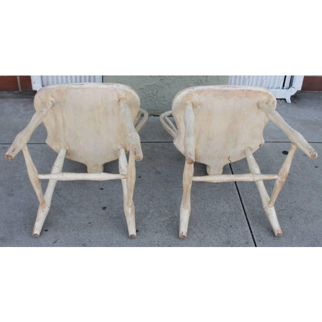 Pair of 19th Century White Painted Windsor Chairs - Image 7 of 8