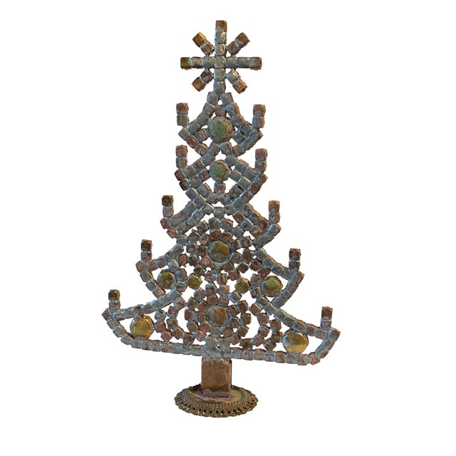 Traditional Multi Colored Czech Rhinestone Christmas Tree For Sale - Image 3 of 5