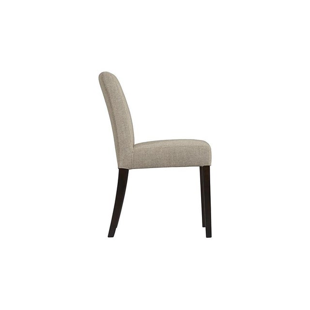 Crate & Barrel Lowe Upholstered Chairs - Pair - Image 3 of 4