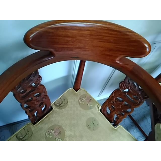 19th Century Chinese Solid Rosewood Corner Chairs - A Pair For Sale - Image 5 of 11