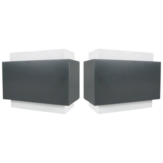 Pair of 1970s Louvered Cube Wall Sconces by Lightolier For Sale - Image 10 of 10