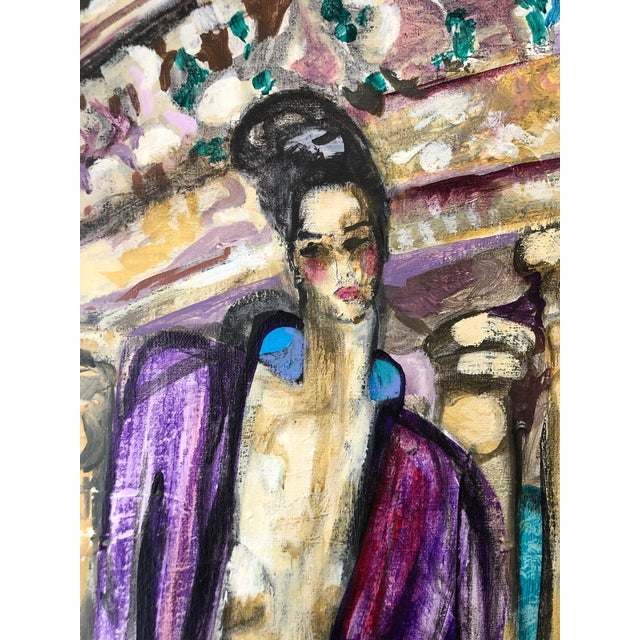 """Joanne Cooper """"Forms"""" 1974 Acrylic and polymer on canvas 30""""x40"""" Guild Hall East Hampton Exhibition label on reverse..."""
