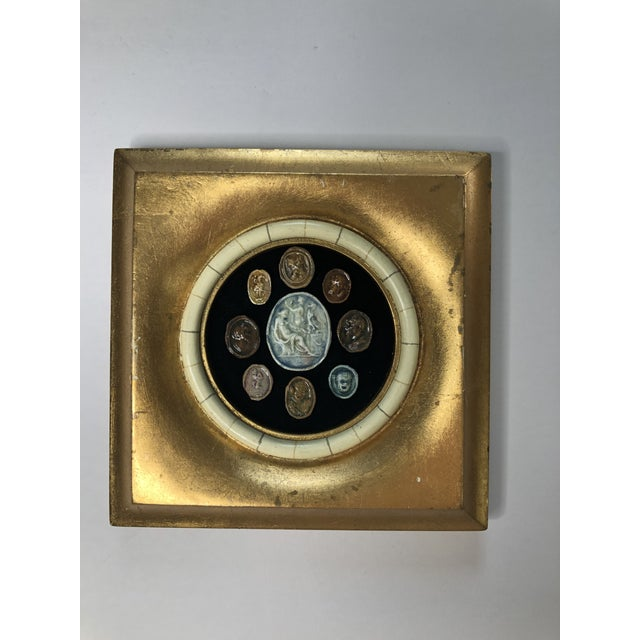 18th Century Grand Tour Glazed Cameos in Gilded Frame For Sale In Los Angeles - Image 6 of 8