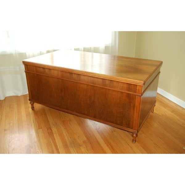 Early 1900's Mahogany Partner Desk by CF Roth - Image 4 of 9