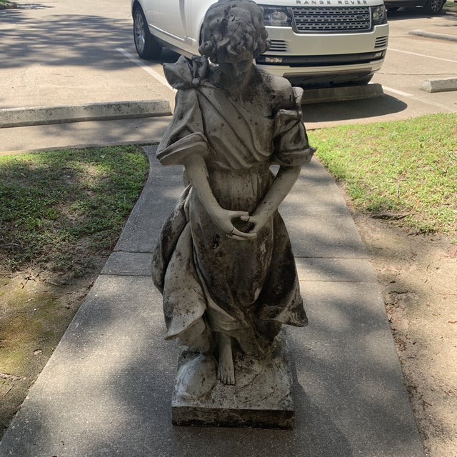 1930s Vintage Resin Statue For Sale - Image 13 of 13
