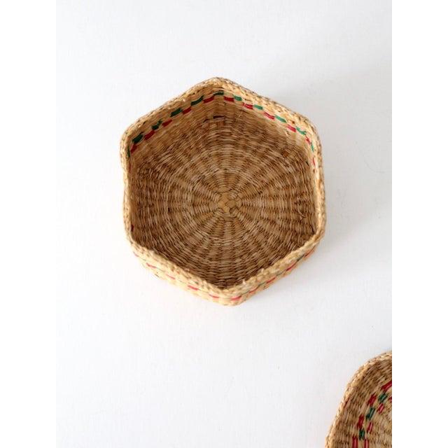 Vintage Sweetgrass Basket For Sale - Image 9 of 10