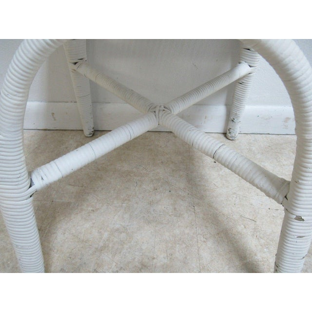 Antique Wicker Outdoor Patio Chair For Sale - Image 10 of 11