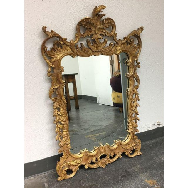 La Barge Baroque Gold Leafed Wall Mirror - Image 9 of 9
