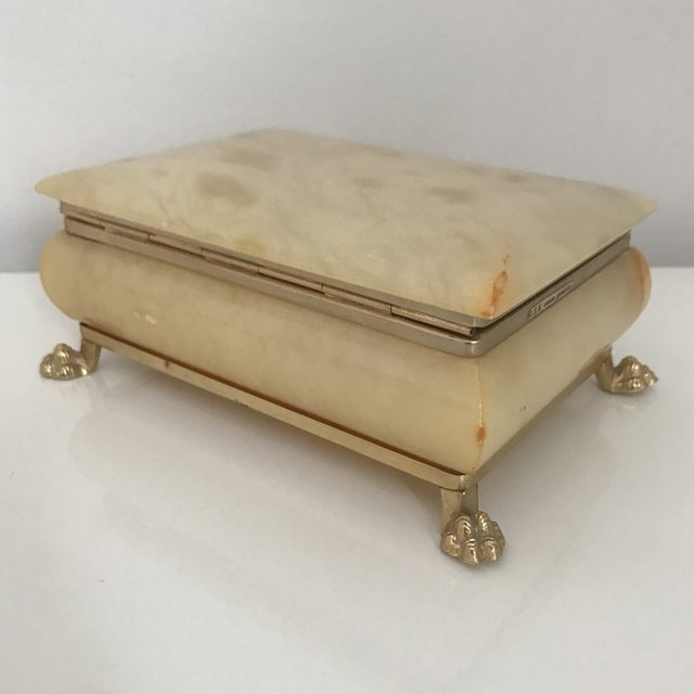 Late 20th Century Vintage Italian Onyx Box For Sale - Image 5 of 6