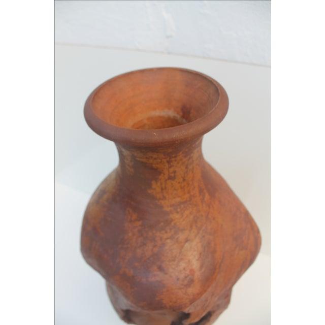 Large Brutalist Studio Pottery Vase, Signed by Wendy - Image 7 of 11