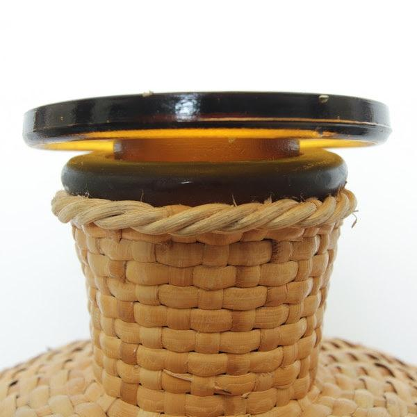 1960s Italian Ballard Cane and Jute Wrapped Demijohn Wine Cooler Decanter - Set of 3 For Sale In Palm Springs - Image 6 of 13