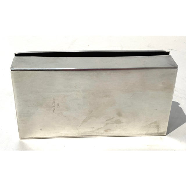 Metal Art Deco 1930s Poole 1899 Epca Box Silver Plated Mahogany Interior For Sale - Image 7 of 9