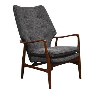 Aksel Madsen Bender Danish Modern Grey Lounge Chair For Sale