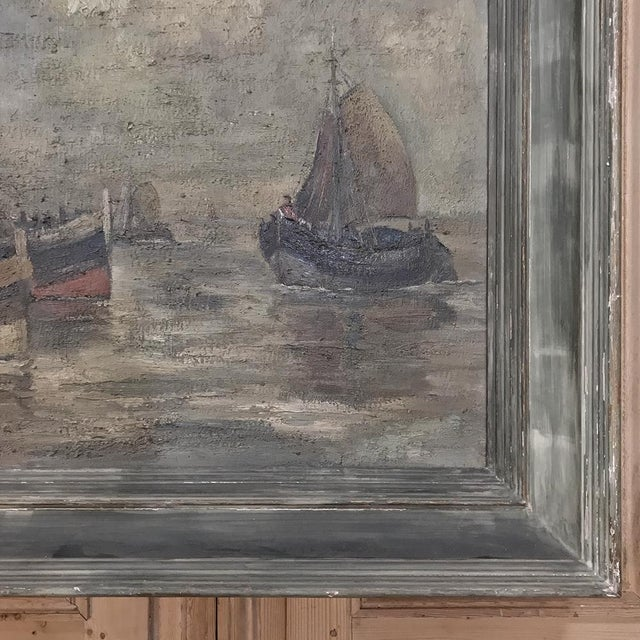Mid-Century Framed Oil Painting on Canvas by Hubert De Vries For Sale In Dallas - Image 6 of 11