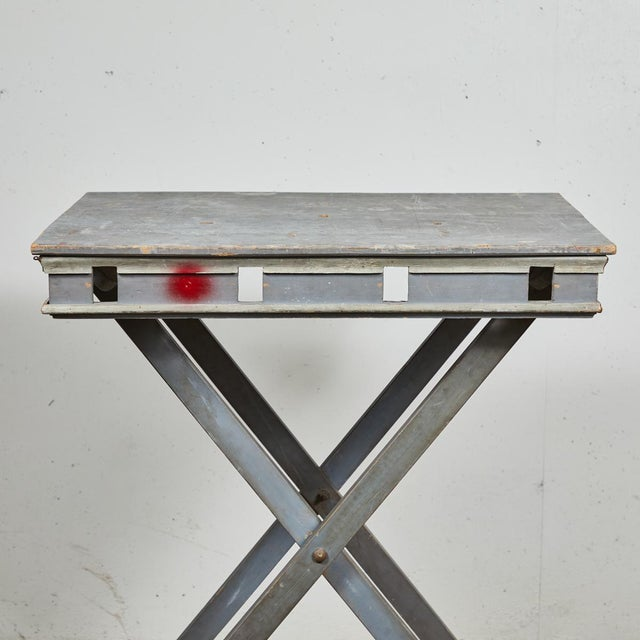 French Mid 19th Century French Folding Presentation Table For Sale - Image 3 of 9