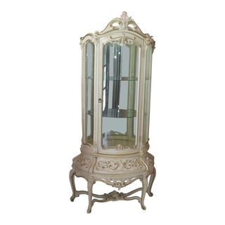 1980s Vintage Curio Cabinet For Sale