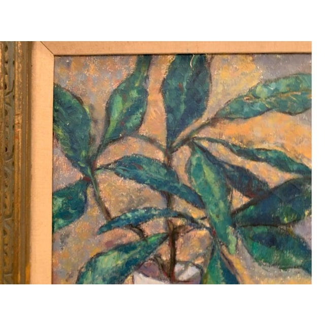 Mid-Century Modernist Still Life Oil on Canvas Painting For Sale In Philadelphia - Image 6 of 10