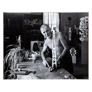 Vintage Photograph of a Modern Sculptor For Sale