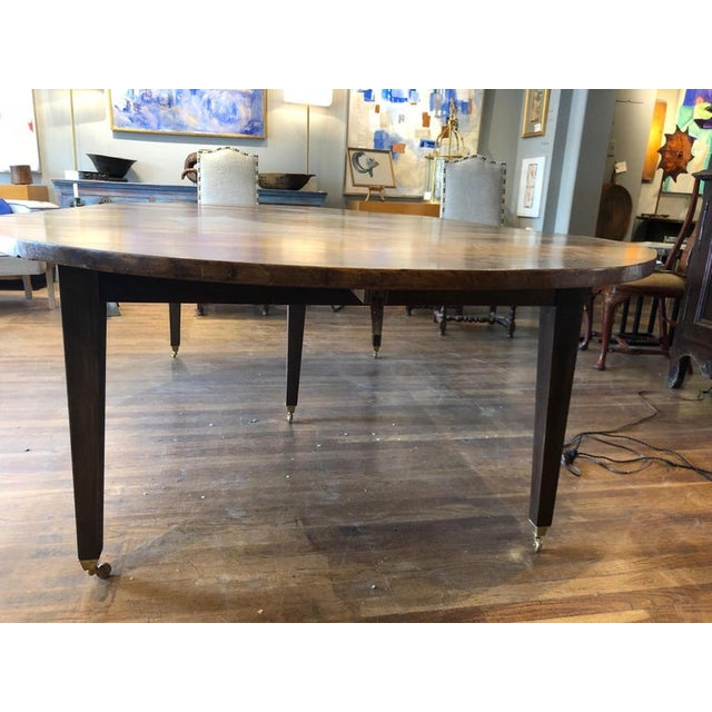 19th Century Louis XVI Style French Provincial Extending Walnut Dining Table For Sale In Washington DC - Image 6 of 9