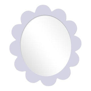 Fleur Home x Chairish Iris Oval Mirror in Spring Iris, 27x22 For Sale