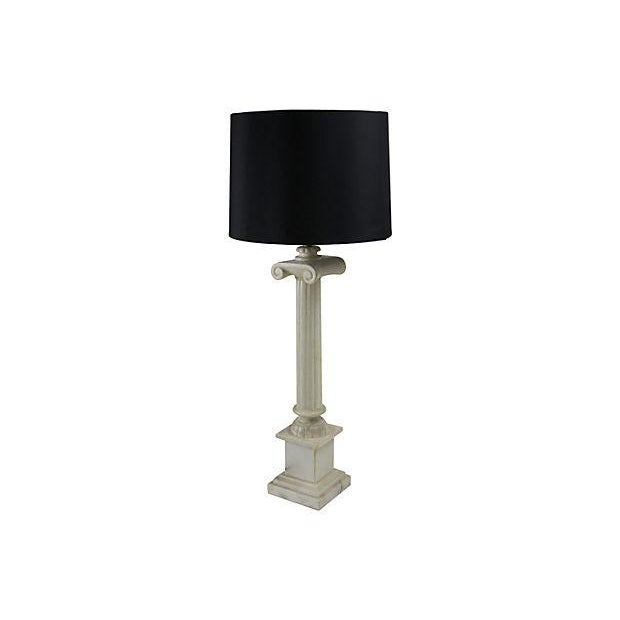 Alabaster Column Table Lamps - a Pair - Image 2 of 5