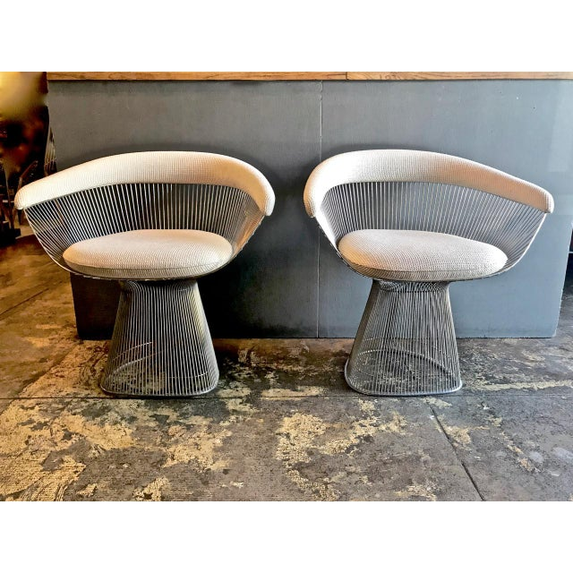 Metal 1990s Vintage Warren Platner Chairs- A Pair For Sale - Image 7 of 7